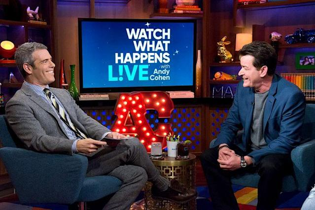 Charlie Sheen did not hold back when he sat down with Andy Cohen on <em>Watch What Happens Live.</em> (Photo: Charles Sykes/Bravo/NBCU Photo Bank via Getty Images)