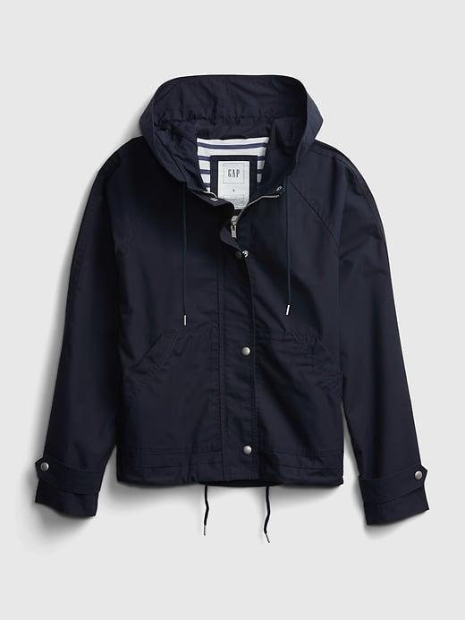 <p>OK, I can't help it. I love gear, and the style and function of this <span>Gap Cropped Anorak Jacket</span> ($81, originally $108) makes it a must.</p>