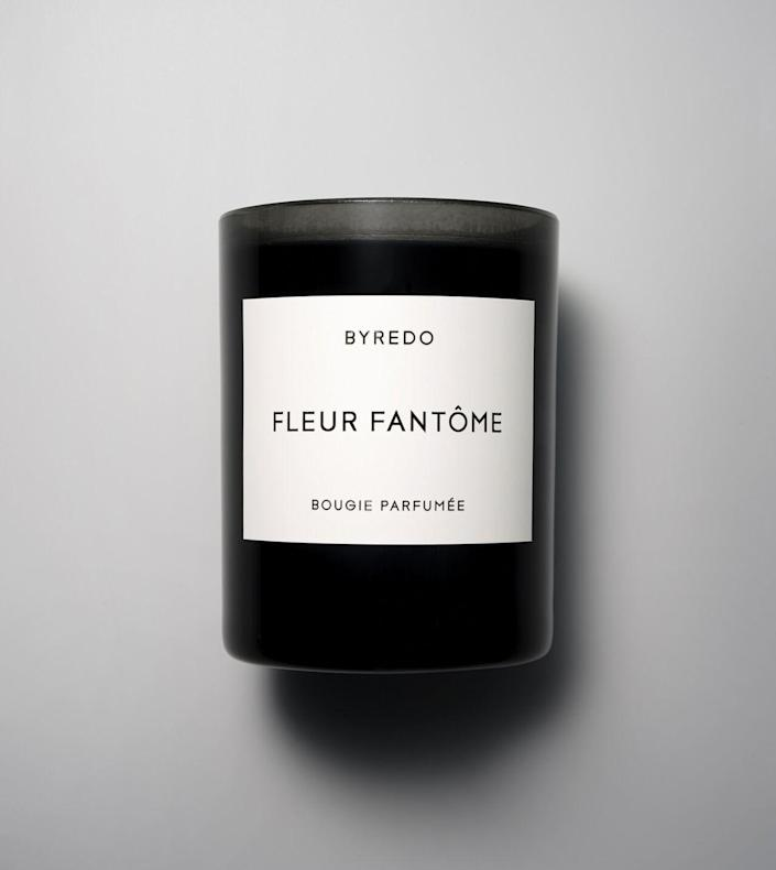"""<p><strong>Byredo</strong></p><p>byredo.com</p><p><strong>$85.00</strong></p><p><a href=""""https://www.byredo.com/us_en/fleur-fantme-candle-240g"""" rel=""""nofollow noopener"""" target=""""_blank"""" data-ylk=""""slk:Shop Now"""" class=""""link rapid-noclick-resp"""">Shop Now</a></p><p>Set the mood with a chic, moody candle like this one from Byredo. </p>"""