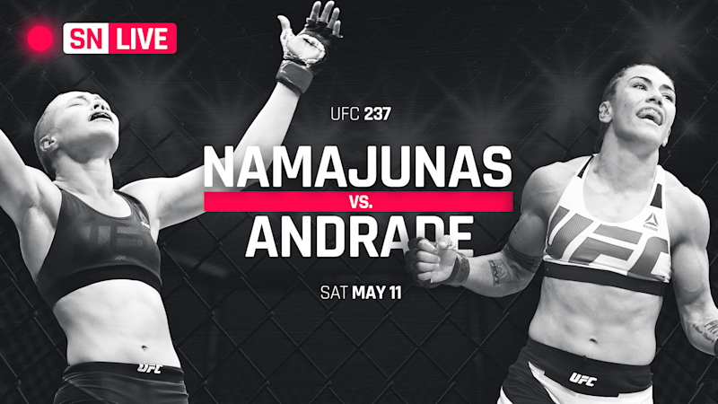 210c026351b UFC 237 results  Jessica Andrade wins title with vicious TKO slam on Rose  Namajunas