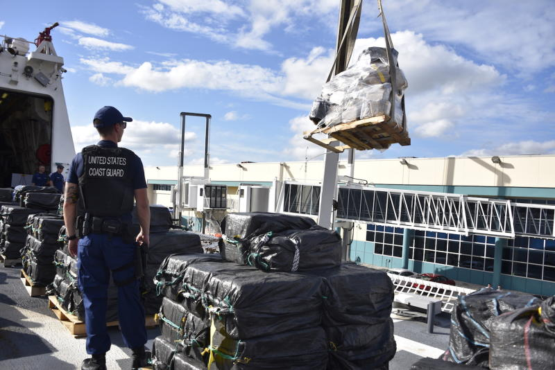 US Coast Guard cutter James cocaine drug seizure offload