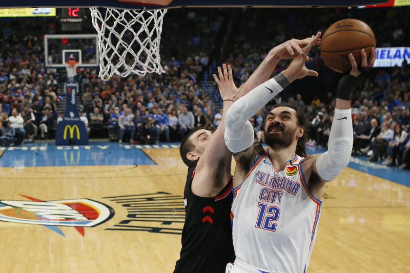 Thunder center Steven Adams out vs. Heat with injured knee