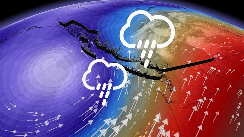 Ample Pacific moisture flows into B.C., may yield 100+ mm of rain