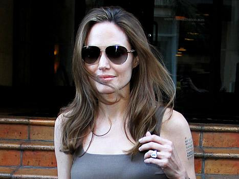 NEW PIC: Angelina Jolie Smiles, Flashes Huge Engagement Ring in L.A