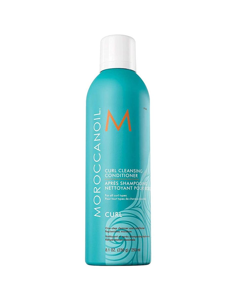 """<p>This non-foaming one-step shampoo and conditioner gently cleanses and conditions hair. Infused with tea tree and argan oil this co-wash this is a co-wash that cleans while detangling hair leaving your curls soft and bouncy. </p><p><a class=""""link rapid-noclick-resp"""" href=""""https://www.amazon.com/dp/B01LYD39G3?tag=syn-yahoo-20&linkCode=ogi&th=1&psc=1&ascsubtag=%5Bartid%7C10065.g.37036119%5Bsrc%7Cyahoo-us"""" rel=""""nofollow noopener"""" target=""""_blank"""" data-ylk=""""slk:Shop Now"""">Shop Now</a></p>"""