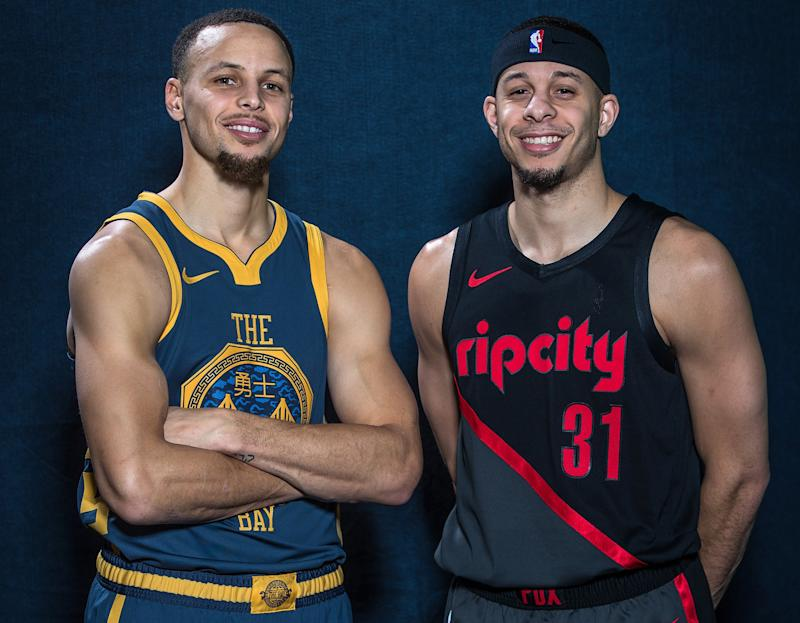a0689f7d6896 Steph Curry and His Brother Seth Will Face Off in NBA Western Conference  Finals