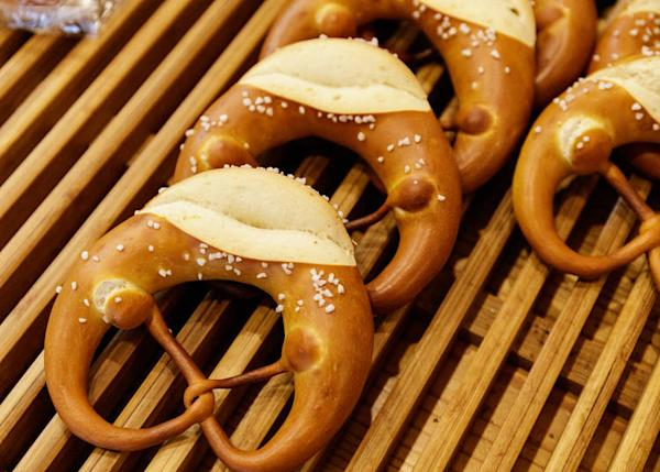 The pretzels are the main attraction