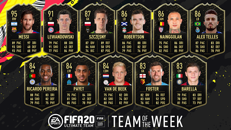 FIFA 20: Messi joined by Lewandowski, Robertson and Haaland in star-studded FUT TOTW