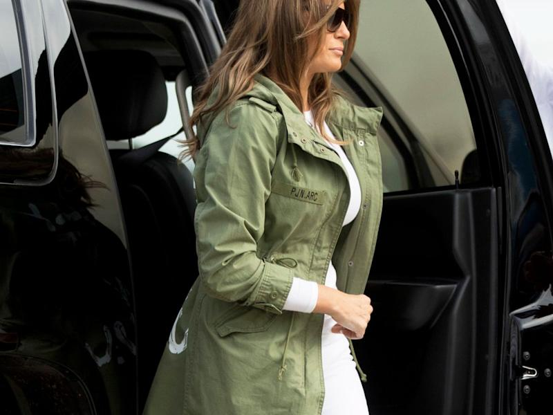 Melania Trump visits migrant children at Texas detention center