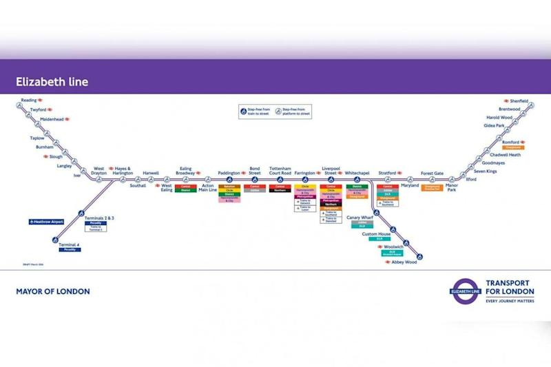 Route: The Crossrail Elizabeth line route. (Crossrail)