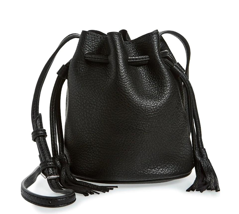 <p>Admittedly, bucket bags often have the reputation of being the perfect summer bag. But thanks to its faux leather exterior, this <span>Street Level Bucket Bag</span> ($43) is fall-approved.</p>