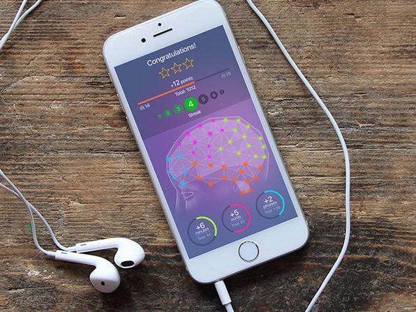 The app makes a game of learning by displaying and audibly reading words while showing images (Photo: Yahoo Lifestyle Shop)