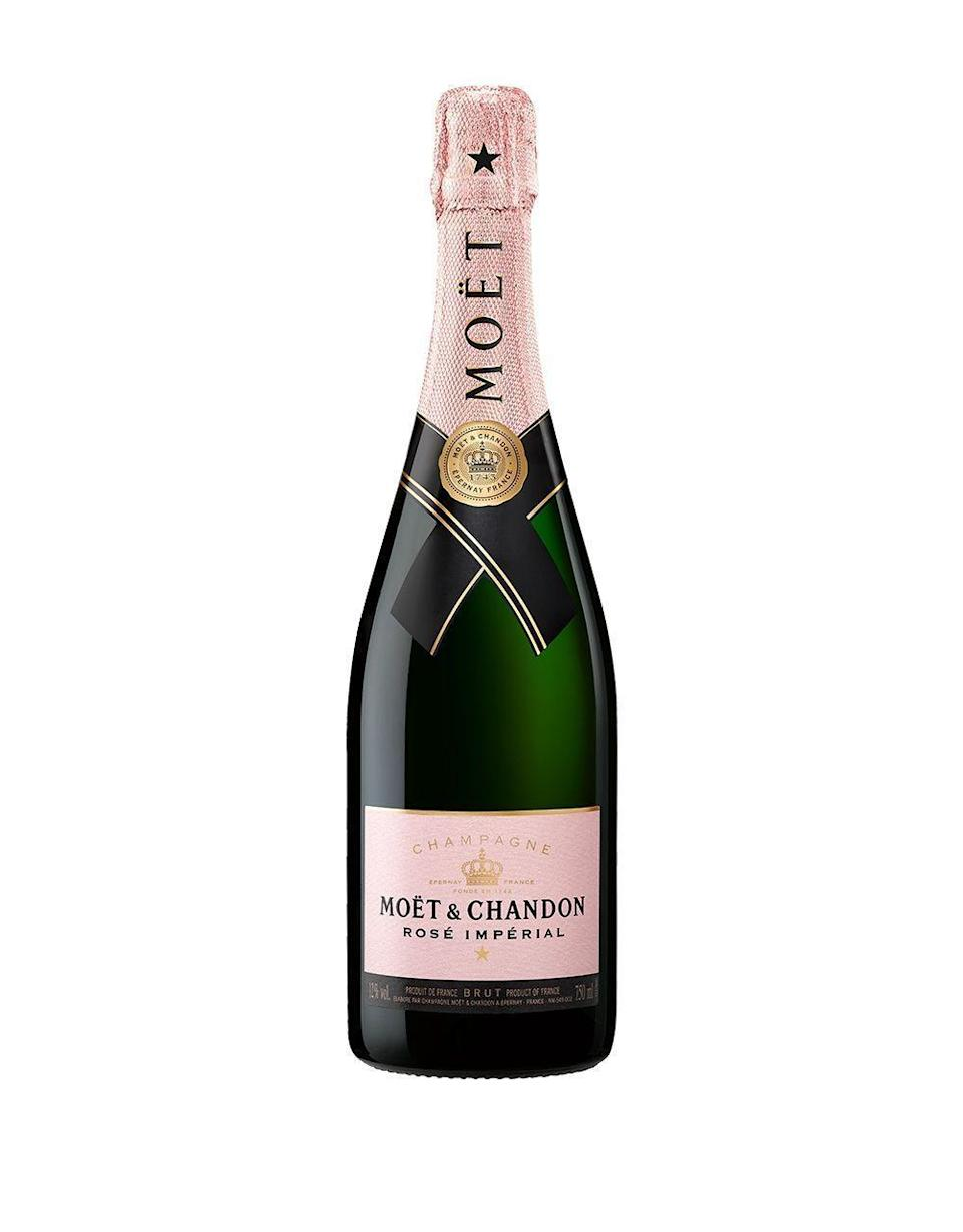 """<p><strong>Moët & Chandon</strong></p><p>reservebar.com</p><p><strong>$58.00</strong></p><p><a href=""""https://go.redirectingat.com?id=74968X1596630&url=https%3A%2F%2Fwww.reservebar.com%2Fmoet-and-chandon-rose-imperial&sref=https%3A%2F%2Fwww.townandcountrymag.com%2Fleisure%2Fdrinks%2Fnews%2Fg1319%2Fbest-rose-brands%2F"""" rel=""""nofollow noopener"""" target=""""_blank"""" data-ylk=""""slk:Shop Now"""" class=""""link rapid-noclick-resp"""">Shop Now</a></p><p>Moët & Chandon's fantastic rosé imperial Champagne is an essential at any summertime soirée. The beautiful pink hue offers a rich and sophisticated taste. Your <a href=""""https://www.townandcountrymag.com/leisure/drinks/a26592142/women-champagne-history-veuve-cliquot/"""" rel=""""nofollow noopener"""" target=""""_blank"""" data-ylk=""""slk:Champagne-loving friends"""" class=""""link rapid-noclick-resp"""">Champagne-loving friends</a> will no doubt be pleased with this pink version. </p><p><strong>More: </strong><a href=""""https://www.townandcountrymag.com/leisure/drinks/g13454040/rose-champagne-bottles/"""" rel=""""nofollow noopener"""" target=""""_blank"""" data-ylk=""""slk:The Best Rosé Champagnes and Sparkling Wines"""" class=""""link rapid-noclick-resp"""">The Best Rosé Champagnes and Sparkling Wines</a></p>"""