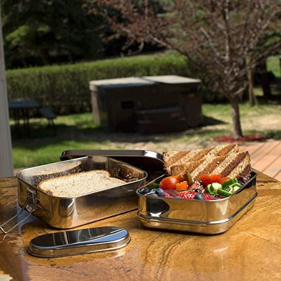 <p>This durable <span>3-in-1 Stainless Steel Bento Lunch Box</span> ($29) can hold up to six cups of food, making it a great, eco-friendly option for even the hungriest of teenagers. </p>