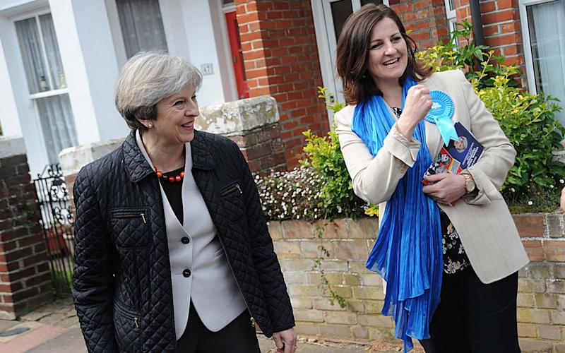 Prime Minister's Theresa May canvassing in Eastbourne East Sussex  - Credit: Mark Dimmock