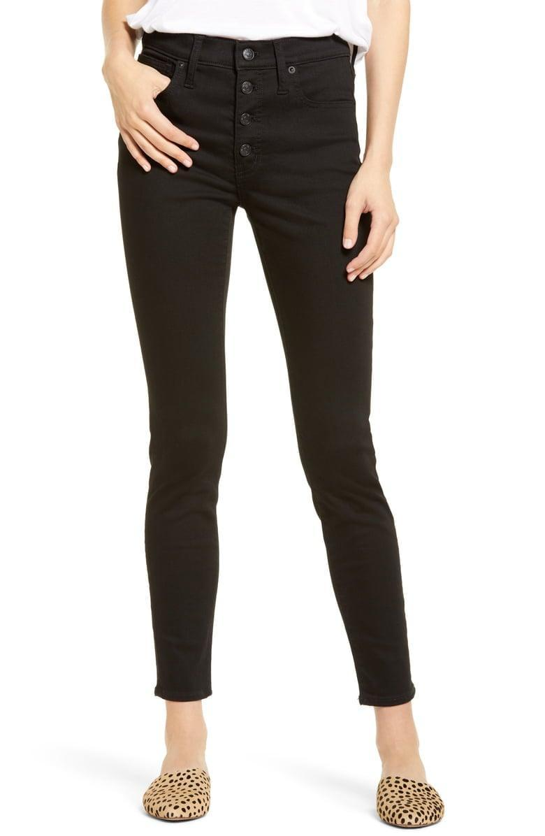 <p>These <span>Madewell High-Waist Skinny Jeans</span> ($77, originally $128) are a customer favorite.</p>