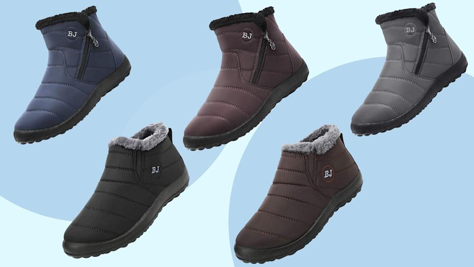 JIASUQI anti-slip winter boots are available through Amazon Canada.
