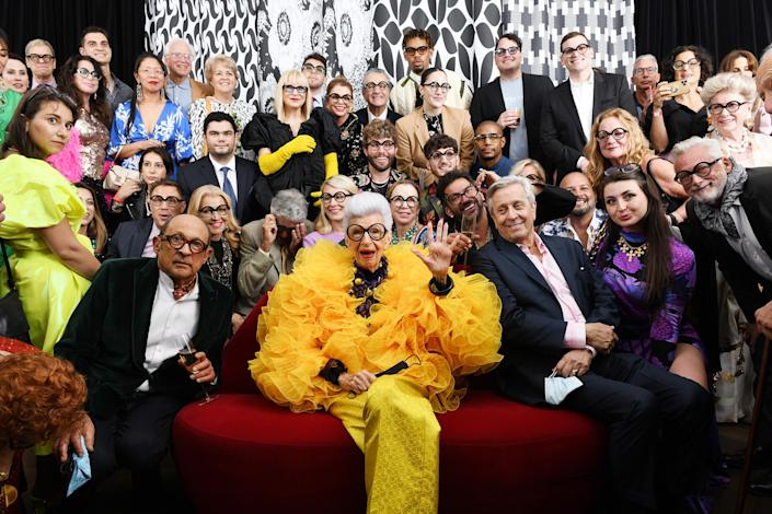 Iris Apfel celebrates her 100th Birthday Party with 100 friends at Central Park Tower on September 09, 2021. (Noam Galai / Getty Images for Central Park To)