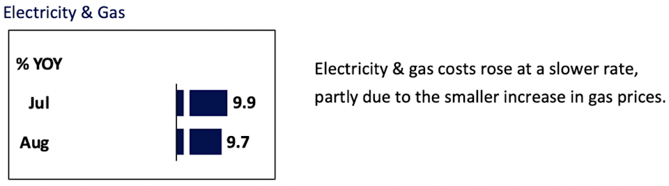 Electricity and gas inflation August 2021