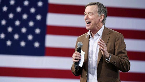 PHOTO:Democratic presidential candidate former Colorado Gov. John Hickenlooper speaks at an event on April 27, 2019, in Las Vegas. (Ethan Miller/Getty Images, FILE)