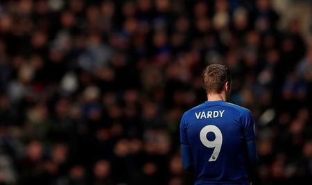 Soccer Football - Premier League - Leicester City vs Stoke City - King Power Stadium, Leicester, Britain - February 24, 2018 Leicester City's Jamie Vardy during the match Action Images via Reuters/Andrew Boyers
