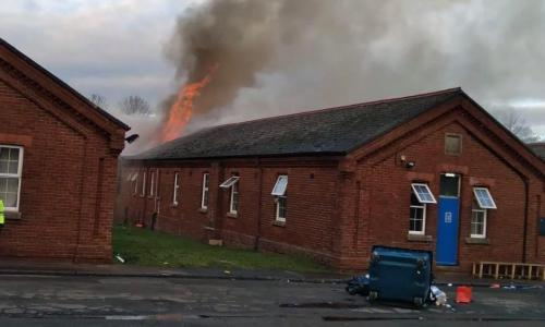 Fire previously broke out at Napier barracks in January.