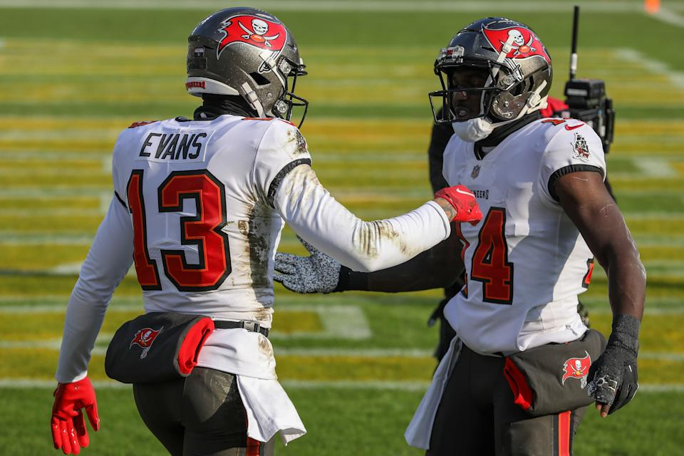 Mike Evans and Chris Godwin are a deadly 1-2 punch. (Photo by Dylan Buell/Getty Images)