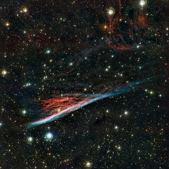 The oddly shaped Pencil Nebula (NGC 2736) is pictured in this image from the European Southern Observatory's La Silla Observatory in Chile. The image was released on Sept. 12, 2012.