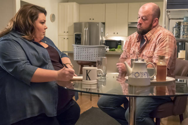 <p>Chrissy Metz as Kate, Chris Sullivan as Toby in NBC's <i>This Is Us</i>.<br> (Photo: Ron Batzdorff/NBC) </p>