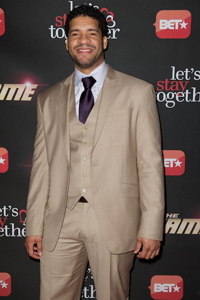 "Bert Belasco arrives at BET's ""The Game"" and ""Let's Stay Together"" premiere party at the Hollywood Roosevelt Hotel on January 5, 2012 in Hollywood, California."