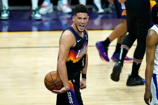 Devin Booker recorded his first career triple-double as Phoenix Suns won game one of the Western Conference final against Los Angeles Clippers