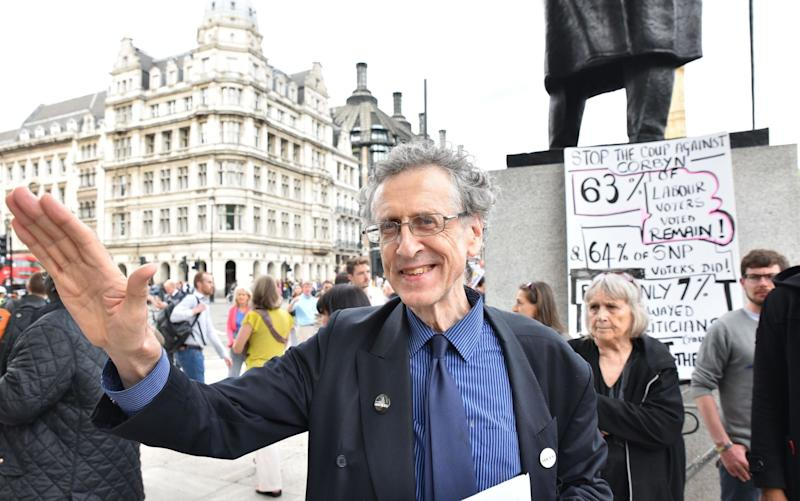 Piers Corbyn at a rally in support of his brother in June 2016 - Credit: Matthew Chattle/Rex Features