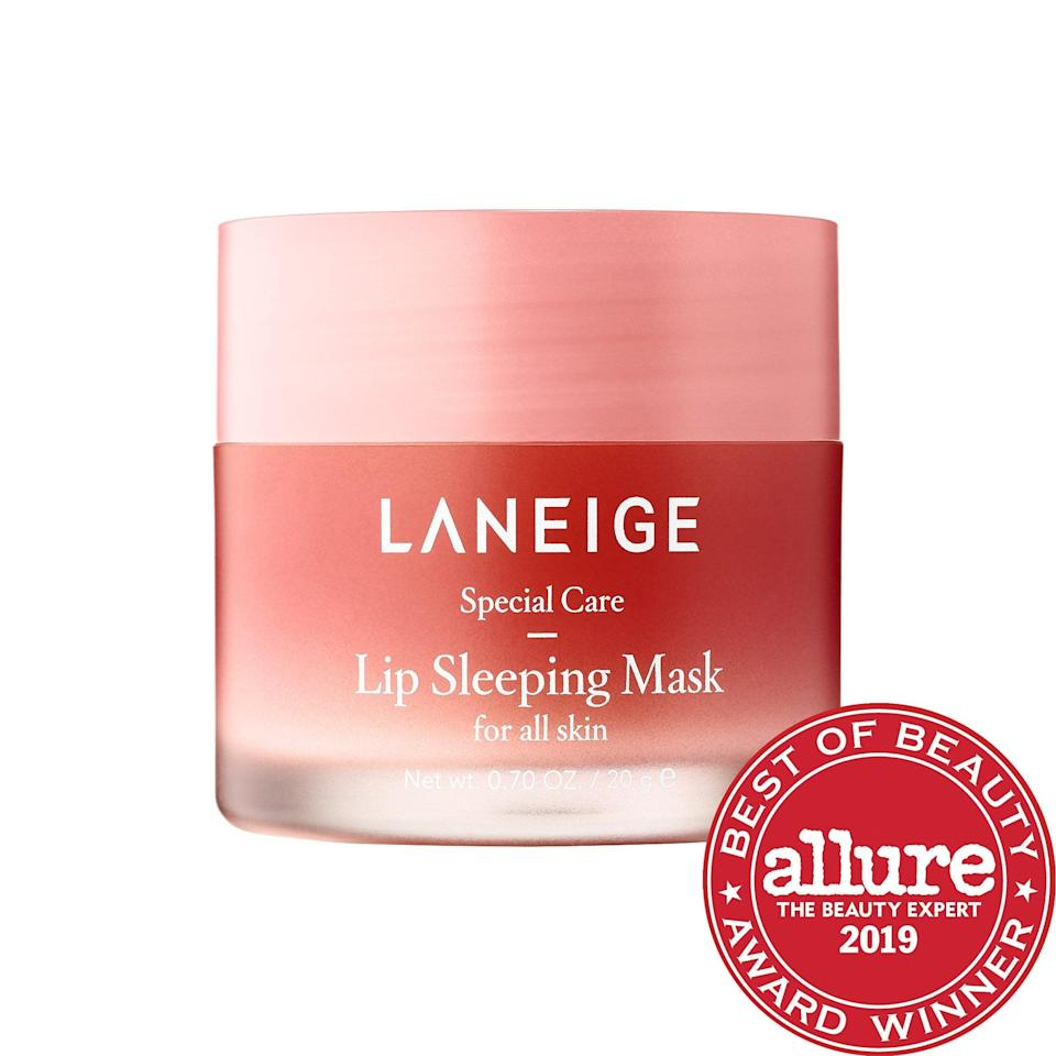 <p>The last step in my routine is the <span>Laneige Lip Sleeping Mask</span> ($20). It's thick as can be and smells like berries. I apply it and wake up with soft lips; what more could you ask for?</p>