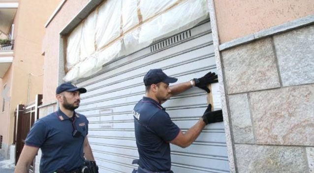 Police cordoned off the property as they conducted an investigation. Photo: AP