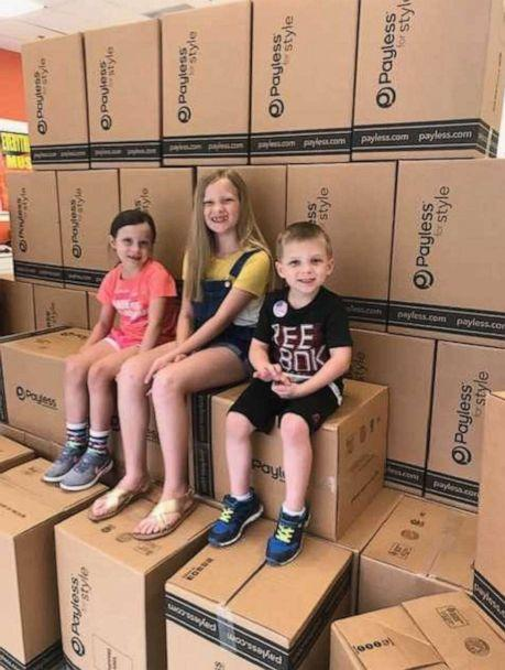 PHOTO: An Arkansas mom Carrie Jernigan bought out all the shoes at her local Payless store to give to those in need. (Courtesy Carrie Jernigan)