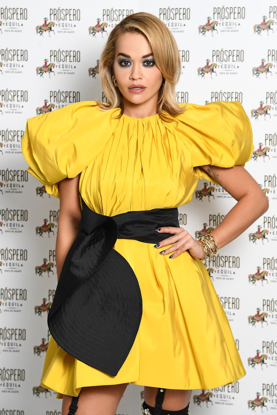 Rita Ora poses during the Prospero Tequila UK Launch on November 23, 2020 in London, England. (Photo by Gareth Cattermole/Getty Images for ABA)