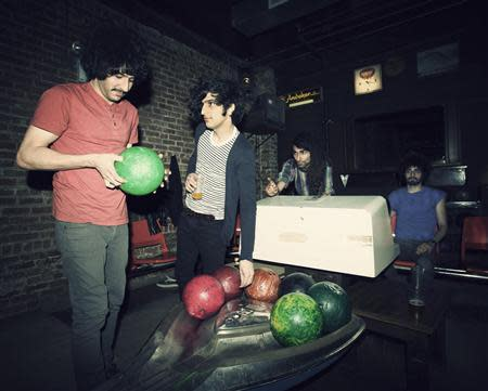 Handout picture shows members of indie band the Yellow Dogs, Soroush and Arash Farazmand, Koory Mirz and Siavash Karampour in New York