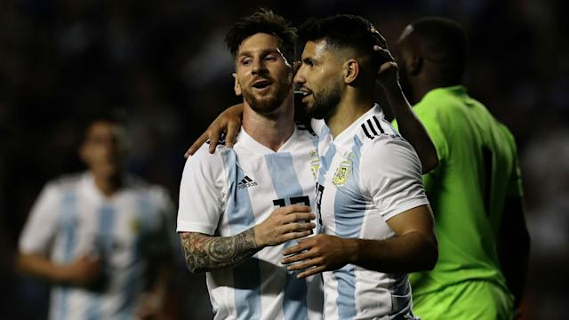 The Man City star is preferred ahead of Higuain for Saturday's World Cup opener in Moscow, while there is also a place for Marcos Rojo at the back