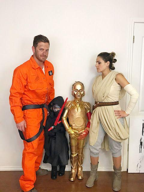 """<p>Make Halloween a full intergalactic family affair, with looks inspired by <em>The Force Awakens</em>: Rey, Poe Dameron, and C-3PO and Kylo Ren for your little ones.</p><p><strong>Get the tutorial at <a href=""""https://fabeveryday.com/2016/10/star-wars-force-awakens-family.html"""" rel=""""nofollow noopener"""" target=""""_blank"""" data-ylk=""""slk:Fab Everyday"""" class=""""link rapid-noclick-resp"""">Fab Everyday</a>.</strong></p><p><strong><a class=""""link rapid-noclick-resp"""" href=""""https://www.amazon.com/Red-Kap-Action-Coverall-Orange/dp/B004KJPTKI?tag=syn-yahoo-20&ascsubtag=%5Bartid%7C10050.g.21287723%5Bsrc%7Cyahoo-us"""" rel=""""nofollow noopener"""" target=""""_blank"""" data-ylk=""""slk:SHOP ORANGE COVERALLS"""">SHOP ORANGE COVERALLS</a><br></strong></p>"""