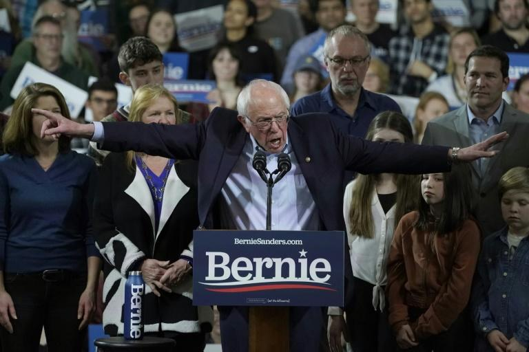 """Democratic presidential candidate Bernie Sanders expressed confidence in his chances of winning the nomination despite being """"disappointed"""" with his showing on Super Tuesday (AFP Photo/TIMOTHY A. CLARY)"""