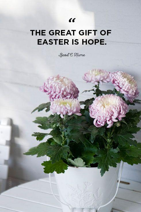 """<p>""""The great gift of Easter is hope.""""</p>"""