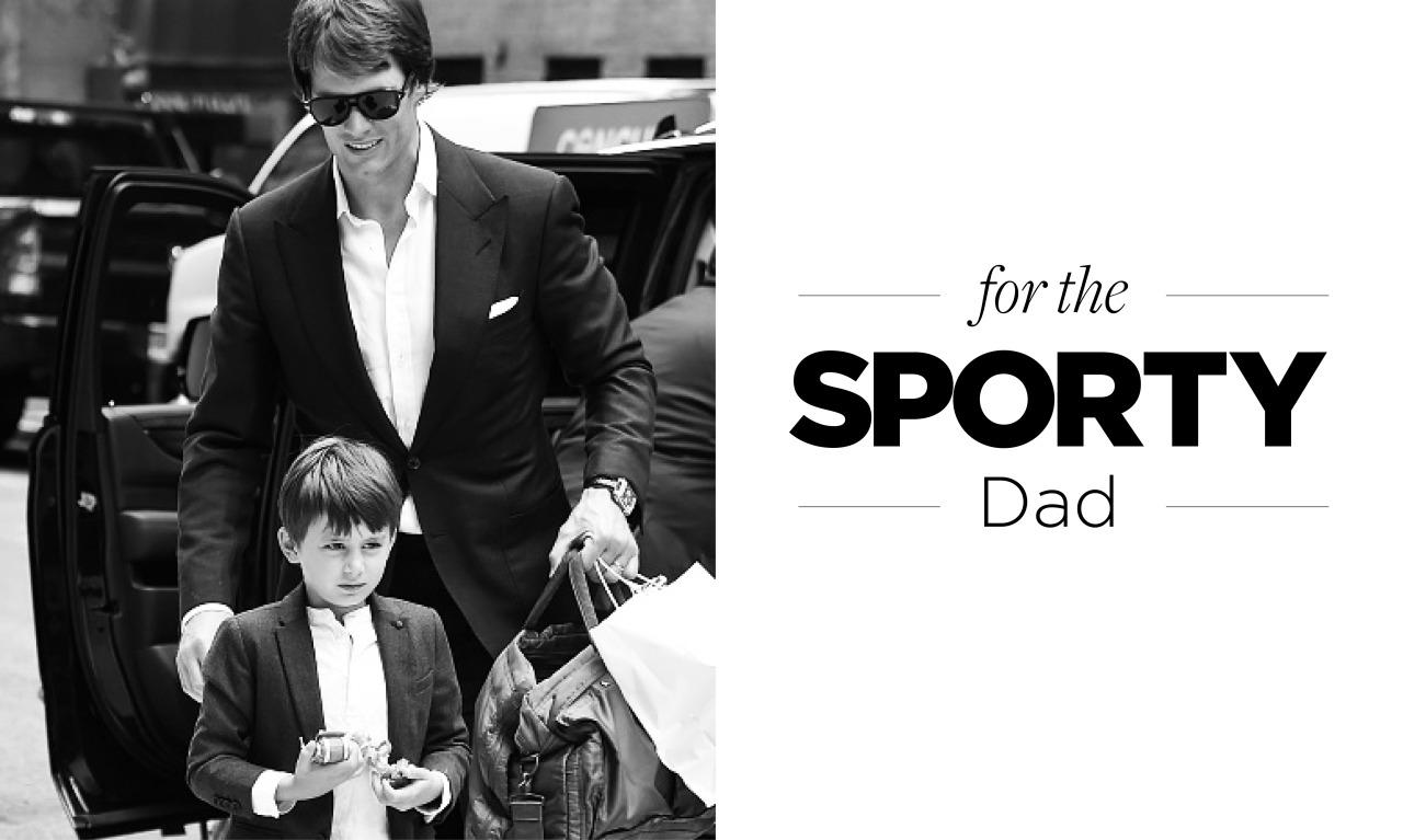 <p>Not only does Tom Brady epitomize the all-around American sports star, but he's also a huge family man, fathering three children with his gorgeous supermodel wife, Gisele Bündchen (no biggie). Whether your dad's an avid swimmer or biker or just loves to toss the pigskin around and holler at the game on TV, we've found gifts tailor-made for him.</p>