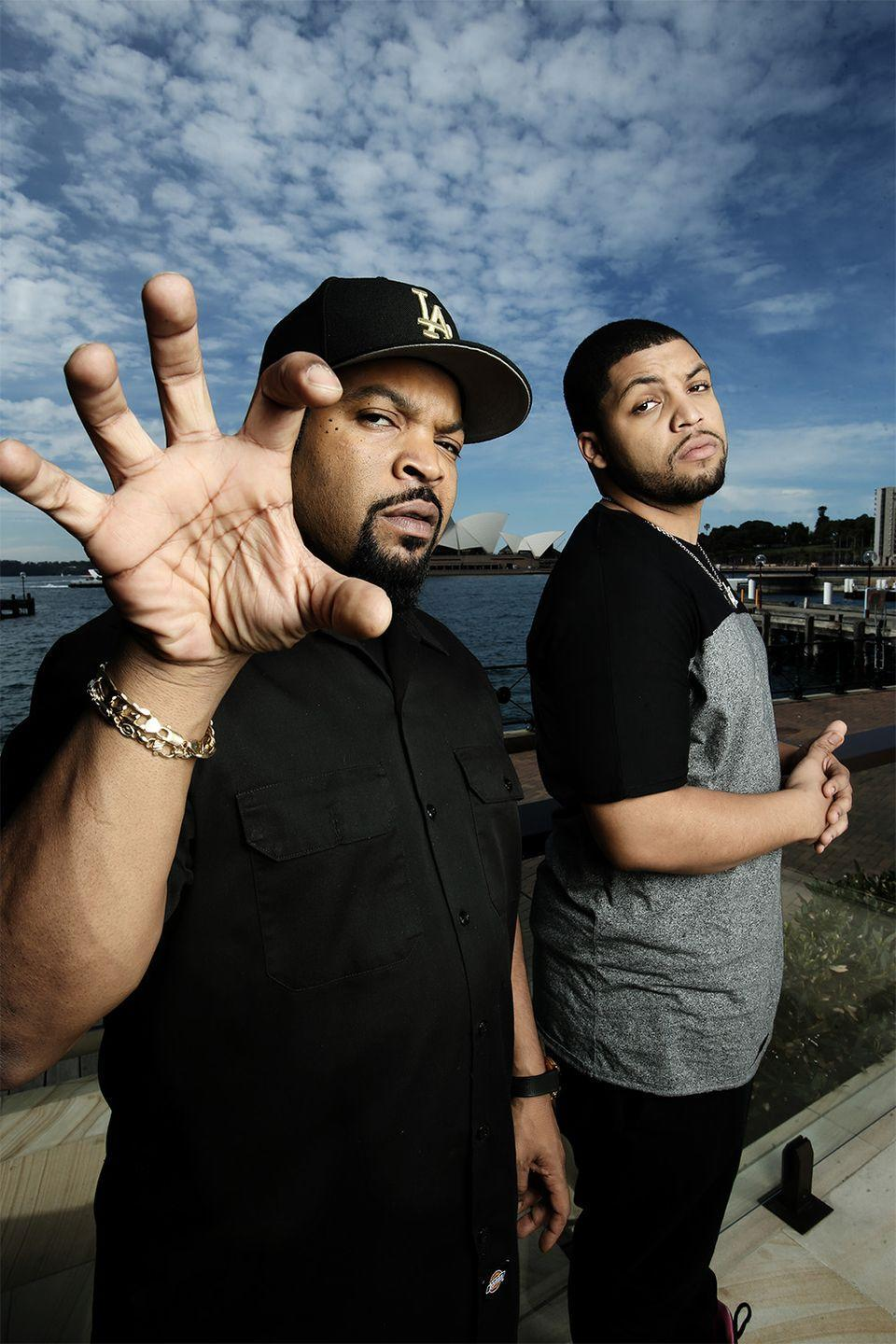 <p>Not only did rapper Ice Cube raise a son who also grew up to be a rapper, O'Shea Jackson Jr., but the two could easily be mistaken for twins. Jackson even played his dad in a movie about his life, <em>Straight Outta Compton</em>.</p>
