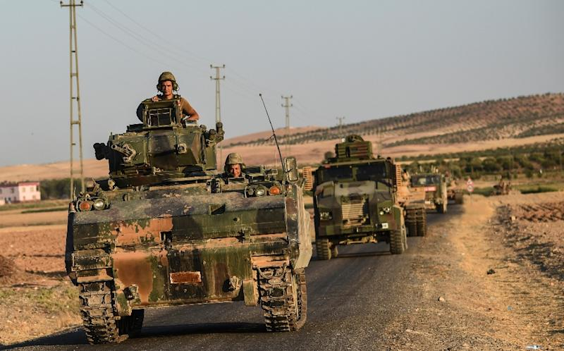Turkish forces and the Kurds of the YPG in northern Syria have frequently exchanged fire over the border (AFP Photo/BULENT KILIC)