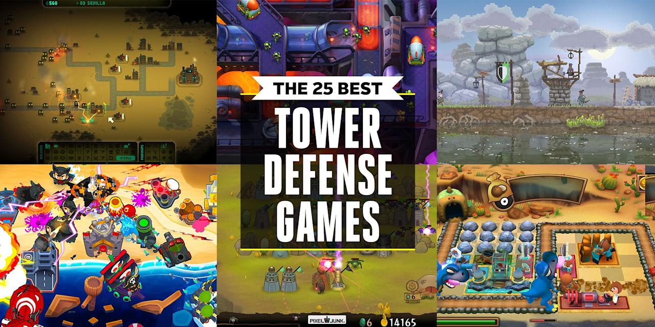 "<p>In tower defense games, you're meant to attack players' territories or items by staving off enemy aggressors and staking your claim on the land. It's not for everyone, but for some enthusiasts, it's the best genre out there. We've taken the guesswork out of finding the one you'll enjoy playing the most, so whether you're new to tower defense titles or a seasoned veteran, you can find something exciting to play with little effort.</p><p><strong>More <em>Pop Mech</em>-Approved Video Games:<a href=""https://www.popularmechanics.com/culture/gaming/g28435502/best-ps4-games/"" target=""_blank""><br></a></strong><a href=""https://www.popularmechanics.com/culture/gaming/g28435502/best-ps4-games/"" target=""_blank"">The 40 Best PlayStation 4 Games</a><a href=""https://www.popularmechanics.com/culture/gaming/g28497313/best-switch-games/"" target=""_blank""><br>The 25 Best Nintendo Switch Games</a><a href=""https://www.popularmechanics.com/culture/gaming/g28646787/horror-games/"" target=""_blank""><strong><br></strong>The 25 Best Horror Games</a><a href=""https://www.popularmechanics.com/culture/gaming/g28590253/best-vr-games/"" target=""_blank""><br>The 25 Best VR Games</a><a href=""https://www.popularmechanics.com/culture/gaming/g28277199/best-video-games-2019/"" target=""_blank""><br>The 30 Best Video Games of 2019 (So Far)</a></p>"