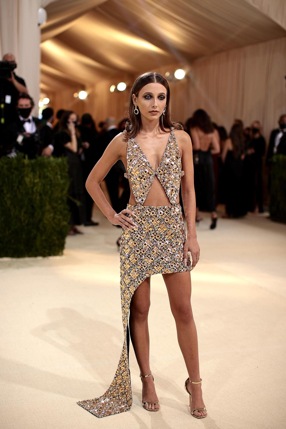 """<h1 class=""""title"""">Emma Chamberlain, The 2021 Met Gala Celebrating In America: A Lexicon Of Fashion - Arrivals</h1><cite class=""""credit"""">Getty</cite>"""