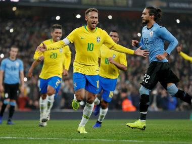 International friendlies: Disputed Neymar penalty fires Brazil to narrow win over Uruguay in feisty South American clash