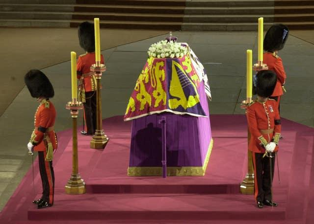 The Queen Mother's lying in state