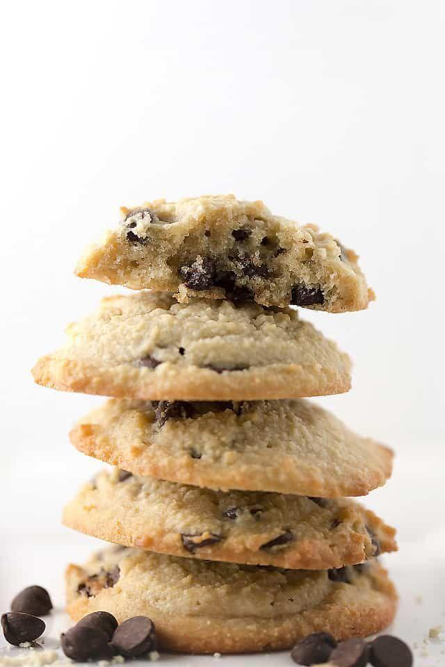 """<p>It's all the goodness of the classic you love.</p><p><strong><a class=""""link rapid-noclick-resp"""" href=""""https://jenniferbanz.com/healthy-chocolate-chip-cookies"""" rel=""""nofollow noopener"""" target=""""_blank"""" data-ylk=""""slk:Get the recipe"""">Get the recipe</a></strong></p><p><em>Per serving: 153 calories, 14.7 g fat, 4.6 g carbs, 2.3 g fiber, 3 g protein.</em></p>"""