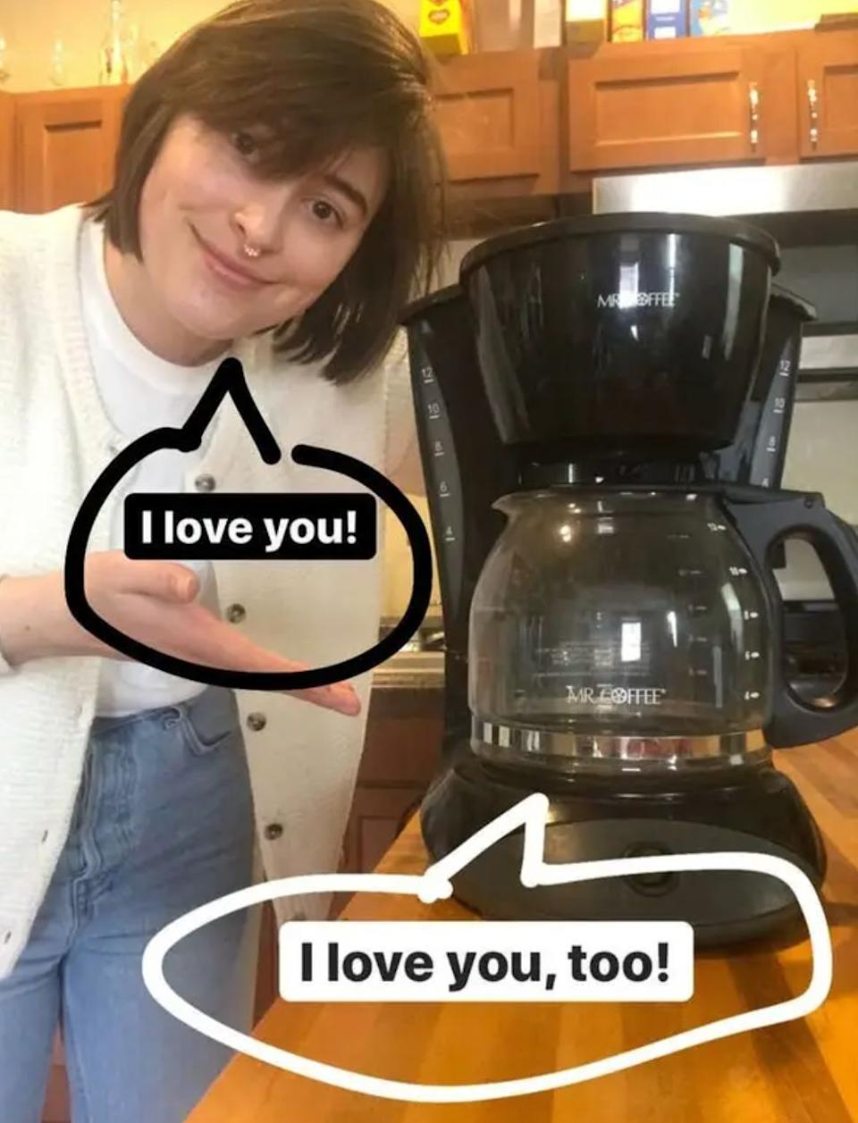 """It'llensure a classic, delicious cup o' joe will always be within arm's reach.<br /><br /><strong>Promising review:</strong>""""I'll admit, I can be prone to coffee snobbery now and again. I have just about every appliance, tool, and gadget to make coffee this way and that, but there's one I always come back to — the<a href=""""https://www.amazon.com/dp/B002YI2IG0?tag=huffpost-bfsyndication-20&ascsubtag=5817703%2C22%2C43%2Cd%2C0%2C0%2C0%2C962%3A1%3B901%3A2%3B900%3A2%3B974%3A3%3B975%3A2%3B982%3A2%2C16176000%2C0"""" target=""""_blank"""" rel=""""nofollow noopener noreferrer"""" data-skimlinks-tracking=""""5817703"""" data-vars-affiliate=""""Amazon"""" data-vars-asin=""""B002YI2IG0"""" data-vars-href=""""https://www.amazon.com/dp/B002YI2IG0?tag=bfheather-20&ascsubtag=5817703%2C22%2C43%2Cmobile_web%2C0%2C0%2C16176000"""" data-vars-keywords=""""cleaning,fast fashion"""" data-vars-link-id=""""16176000"""" data-vars-price="""""""" data-vars-product-id=""""15921554"""" data-vars-product-img=""""https://m.media-amazon.com/images/I/41-mJtflowL._SL500_.jpg"""" data-vars-product-title=""""Mr. Coffee 12-Cup Coffee Maker, Black"""" data-vars-retailers=""""Amazon"""">Mr. Coffee</a>. My dad has used a Mr. Coffee basically every morning since the beginning of time, so when I got my first apartment — finally free of the """"no cooking appliances"""" rule ubiquitous to college dorm life — of COURSE I bought the cheapest 12-Cup Mr. Coffee drip pot I could find.<strong>That same pot has been with me ever since (for over six years!), quickly brewing up cup after steaming cup of coffee for my roommates, friends, and me, never failing to make my morning and little better.</strong>It has also survived many, many moves while packed in pretty precarious boxes. TL;DR: it's also durable.<br /><br />If you've somehow never made drip coffee before, listen, it's really easy. Just pop in a filter, fill it with coffee, fill the machine with water, and flip the switch. Boom! You've got java.<strong>Most mornings, flipping literally one switch is all I feel capable of, and Mr. Coffee thinks t"""